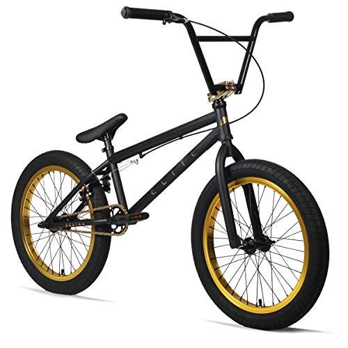 "Elite 20"" BMX Bicycle Destro Model Freestyle Bike (BK Gold)"