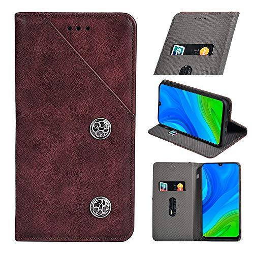 BellaHülle ZTE Axon 20 5G Handyhülle Hülle Leder Flip Hülle [Kartenfach] [Standfunktion] [Magnetschnalle] Wallet Cover für ZTE Axon 20 5G Smartphone(Rot)