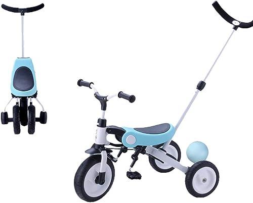 Moolo Tricycle pour Enfants, 3-en-1, Apprendre à pédaler Trike Bicyclette 1-3-6 Ans Poussette légère pour bébé avec artefact