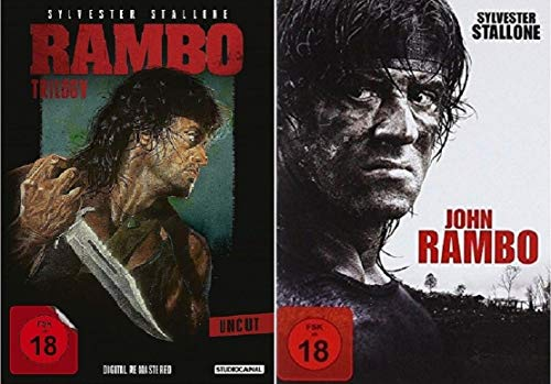 Rambo 1-4 Teil 1+2+3+4 Quadrologie (1-3 Box + John Rambo) [DVD Set]