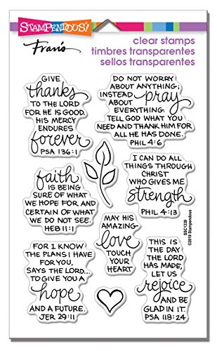 STAMPENDOUS CLEAR STAMPS STAMPND BIBLE VERS, Rubber