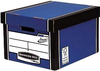 Fellowes 7250601 Conteneur Bankers Box Premium Montage Automatique -Bleu (Lot de 10)