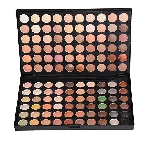 JasCherry 120 Farben Matt und Schimmern Lidschatten Nudetöne Makeup Paletten - Sleek Pulver Augenschatten Make Up Etui Box - Satte Farben Kosmetik Eyeshadow Palette