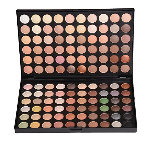 JasCherry 120 Farben Matt und Schimmern Lidschatten Nudetöne Makeup Paletten - Sleek Pulver Augenschatten Make Up Etui Box - Satte Farben Kosmetik Eyeshadow Palette
