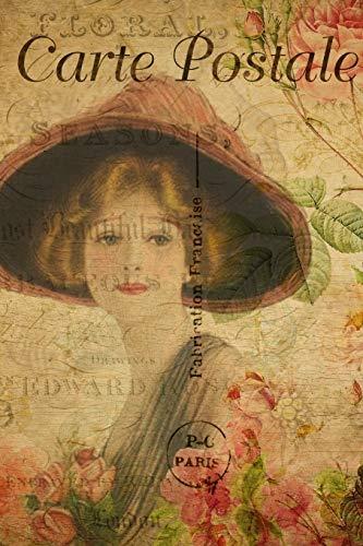 """Carte Postale: Paris Vintage Postcard Journal - 120 Pages - 6""""x 9"""""""