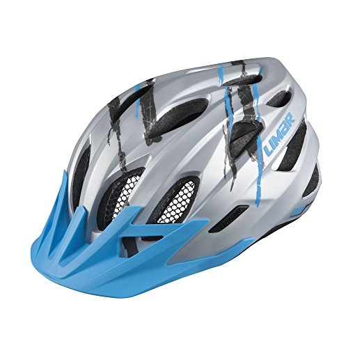 Limar 545MTB Casco Sport Acción, Todo el año, Unisex, Color Matt Silver Blue, tamaño 57-62 cm