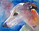 whippet dog fine art print