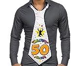 CRAVATTONE 50 ANNI - Cravatta Gadget idea regalo festa 50° Compleanno uomo