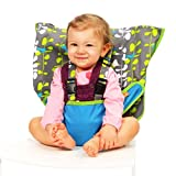 MY LITTLE SEAT Travel High Chair - Blue Fish - The Original Portable High Chair For Travel - Travel High Chairs For Babies And Toddlers - Baby Seats For Sitting Up - Travel High Chair
