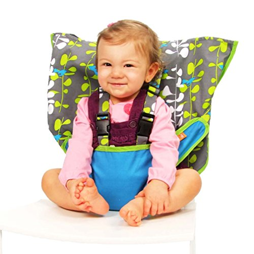 MY LITTLE SEAT Blue Fish Travel High Chair - Travel High Chairs For Babies And Toddlers - Safety Tested for Strength and Durability - Trendy Design