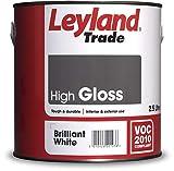 Leyland Trade 264604 High Gloss, Brilliant White, 2.5 Litre