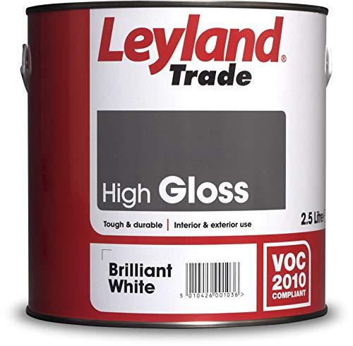 Leyland Trade 264604 High Gloss, Brilliant White, 2.5 Liters