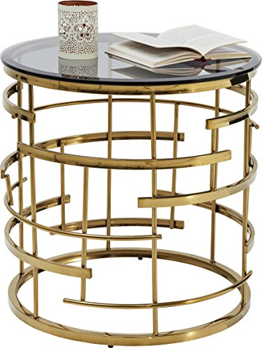 Kare Design Jupiter Durchmesser 55cm Beistelltisch gold, Beistelltisch ausgefallen, (H/B/T) 55x55x55cm