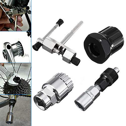 Bestine - Kit de herramientas para bicicleta (4 en 1) para reparación de bicicletas de montaña y MTB (incluye extractor de manivela, interruptor de cadena de bicicleta
