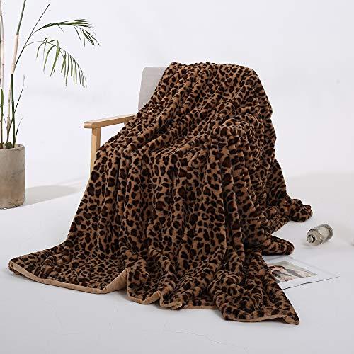 Styho Manta Piel sintética Estampado Leopardo, Microfibra