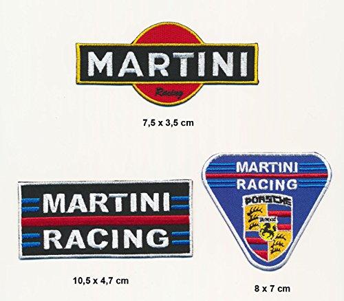 VSP Martini Racing Patches Aufnäher 3 Stück Motorsport Rennsport MRT07