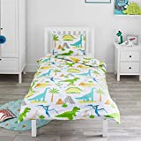 Bloomsbury Mill - Dinosaur World - Kids Bedding Set - Junior/Toddler/Cot Bed Duvet Cover & Pillowcase