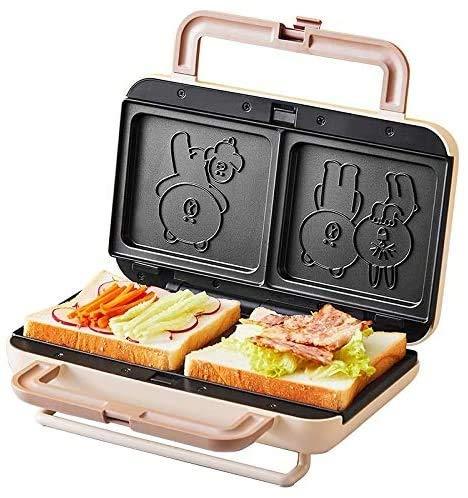 CHENJIA Fabricante de Waffle, máquina de gofres eléctricos de 900 vatios, Desayuno sándwich Máquina para Hornear Máquina Multi tostadora, no Palanca de Pastel