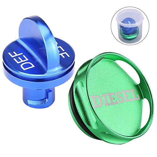 Combo Pack Magnetic Diesel Fuel Cap & DEF Cap for Dodge RAM Trucks (2013-2018) Dodge Ram Diesel Trucks 1500 2500 3500 with 6.7 CUMMINS EcoDiesel, New Easy Grip Design