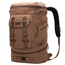 WITZMAN Canvas Travel Backpack