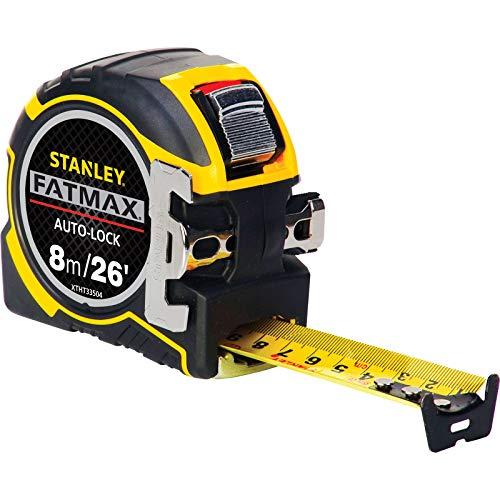 Stanley ZSTA-0-33-504 STA033504 FatMax Autolock Pocket Tape 8m 26ft (Width 32mm) Pro 8 m 26 ft, Multi-Colour