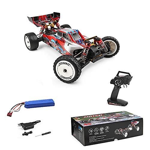 Wltoys 104001 RC Car, Ferngesteuerte Car, 1:10 4WD RC Auto 45 km/h Funkfernsteuerung Elektro Geländewagen, 2,4 GHz RC Offroad Buggy Schneller Rennwagen Spielzeug für Kinder und Erwachsene (1 Batterie)