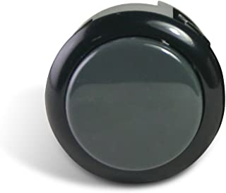 Sanwa Silent 30mm Replacement Arcade Push Button for Mad Catz Fight Sticks - Silent Black/Grey 1pc