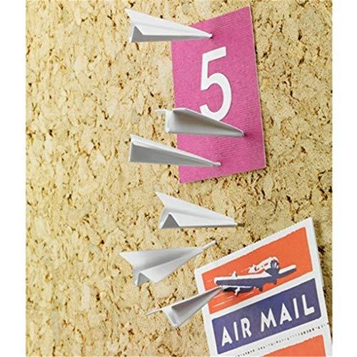 CAVIVIUK 6 UNIDS Papel Avión Chincheta Chinchetas Pasadores de Empuje Mapa Creativo Pasadores de Empuje Fotos Decorativos para Oficina en casa Tablero de Corcho Tablón de anuncios