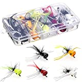 HXC Tamaño 6 Bass Pike Pesca Moscas Kit Agua Salada Trucha Perca Chub Fly Fishing Lures Set con...