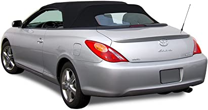 Compatible With Toyota Solara Convertible Soft Top & Glass Window 2004-2009 Twill (Black)