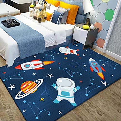 HB.YE Kids large Play Mat Baby Soft Durable Rugs Children Colorful Animals Carpet Living Room Decor Gifts 80 * 160 CM (Space)