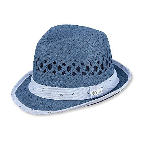 Sterntaler Strohhut für Jungen mit Anker-Motiv, Alter: 12-18 Monate, Blau (Jeansblau 348) ,Größe: 49