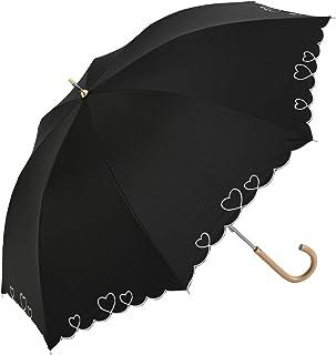 Nifty Colors(ニフティカラーズ) 長傘 遮光ハートスカラ ブラック 2267BK 50cm