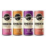 Remedy Raw Organic Kombucha Tea - Sparkling Live Cultured Drink - Sugar Free 4 Flavor Variety Pack - 8.5 Fl Oz Can, 24-Pack