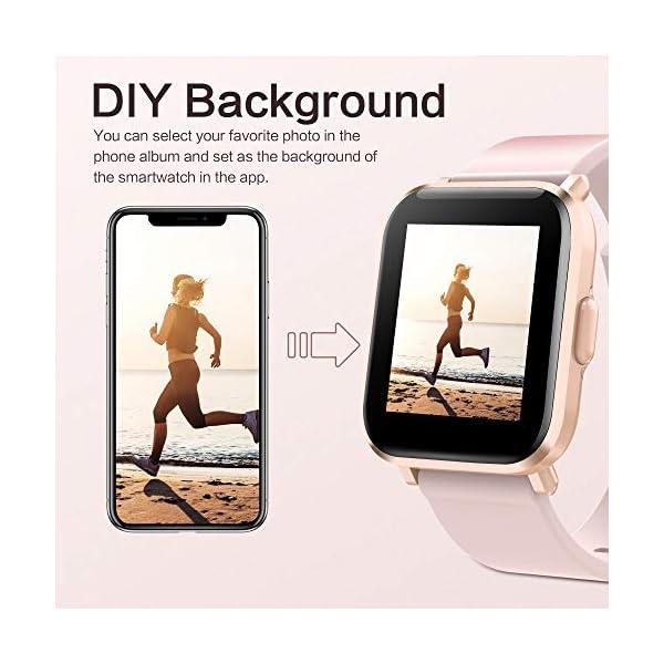 GRDE Reloj Inteligente Hombre Mujer, Smartwatch Fitness 24H Monitor de Oxigeno(SpO2)/Ritmo Cardíaco/Sueño 5ATM… 2