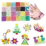 3000 Perlas Kit Abalorios 24 Colors Diferentes Cuentas de Agua Manualidades Juguetes para Niños