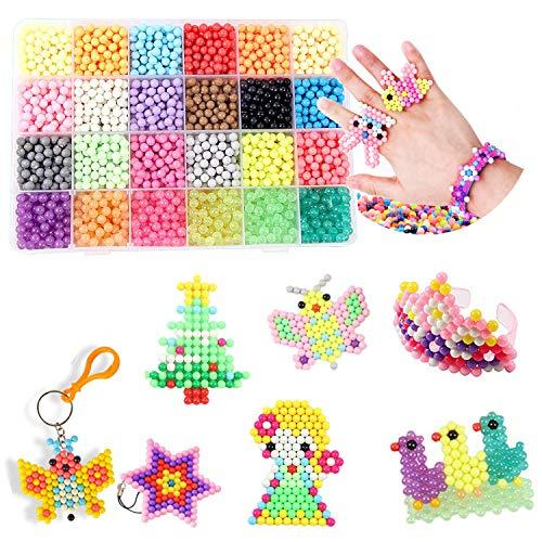 3000 Perlas Kit Abalorios 24 Colors Diferentes Cuentas