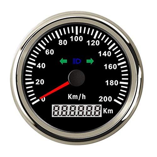 Range para el Bote de Camiones de Coche Alarma del Exceso de Velocidad del odómetro 200Km / h del velocímetro de 85m m GPS for la Motocicleta del camión del Coche del Barco