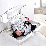 Mesa Plegable para El Cuidado del Bebé/Mesa De Pañales, Cambiador De Baño, Cinturón De Seguridad Ajustable para Baño/Área Pública/Baño Público (bebé De 0 A 3 Años)