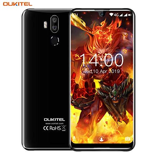OUKITEL K9, 7.12-Zoll FHD Plus Smartphone ohne Vertrag, Dual LED Blitzlichtkamera DSDV 4G LTE SIM-frei, 2 Steckplätze, USB-Typ C Global Band Schnellladung (RAM 4 GB + ROM 64 GB) (Schwarz)