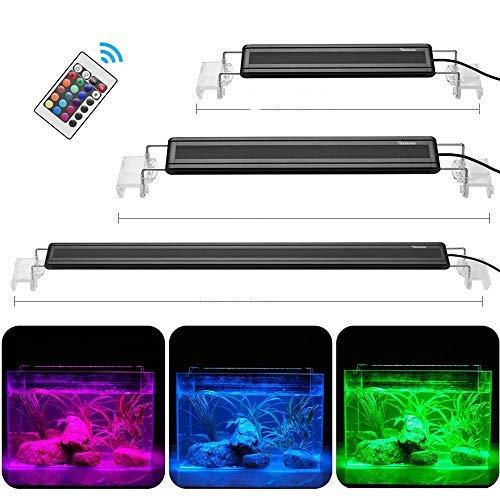 DADYPET Aquarium LED Beleuchtung, Aquariumbeleuchtung Lampe Tageslichtsimulation Aquarium Lampe für Süßwasser Meerwasser L, M, S