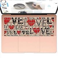 igsticker MacBook Air 13inch 2018 専用 キーボード用スキンシール キートップ ステッカー A1932 Apple マックブック エア ノートパソコン アクセサリー 保護 010743 英語 LOVE ハート