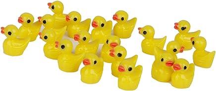 20pcs Miniature Yellow Ducks Micro Garden Landscape Ornaments