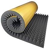 Akustikschaumstoff Selbstklebend Pyramide Matte 200x100 x 8 cm von GMP Tech beauty of sound -...
