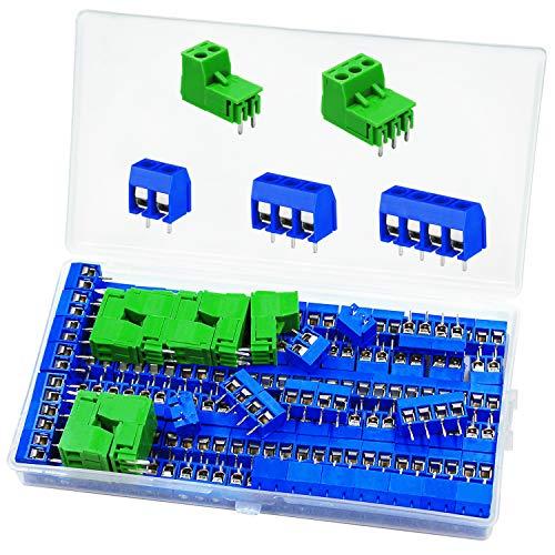PCB Schraubklemmen Screw Terminal Block 114Stk Schraubklemme Steckverbinder 2 Pin / 3 Pin / 4 Pin Lötbare Steckverbinder für Arduino Verwendet