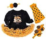 FANCYINN Neonate Il Mio Primo Vestito di Halloween Zucca Pagliaccetti Manica Lunga Tutu Go...