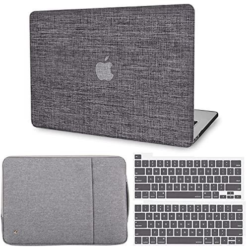 G JGOO Compatible with MacBook Pro 13 Inch Case 2020 2019 2018 2017 2016 Release M1 A2338 A2289 A2251 A2159 A1989 A1706 A1708 Touch Bar, Fabric Protective Hard Shell Case&Laptop Sleeve &Keyboard Cover
