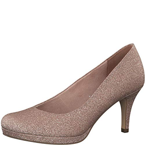 Tamaris Damen Pumps 22465-24, Frauen Plateaupumps, Plateauschuhe modisch bequem Fashion weibliche Lady Ladies,Rose Glam,38 EU / 5 UK