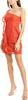 cupcakes and cashmere womens aresa lace one shoulder ruffle dress Dress