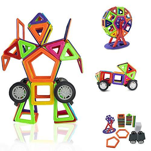 Kuultoy Magnetische Bausteine 109tlg Magnetic Bauklötze Konstruktion Riesenrad Blöcke   Tolles Lernspielzeug für Kinder ab 3 Jahre